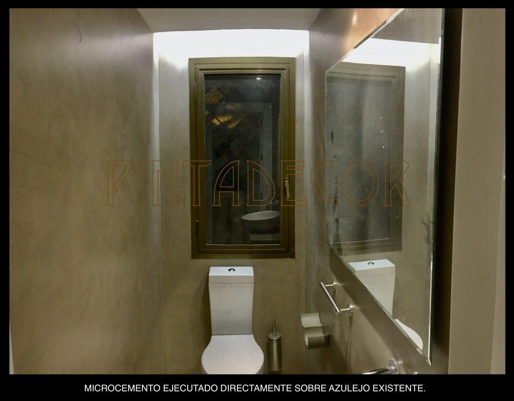 Microcemento en cuarto de baño