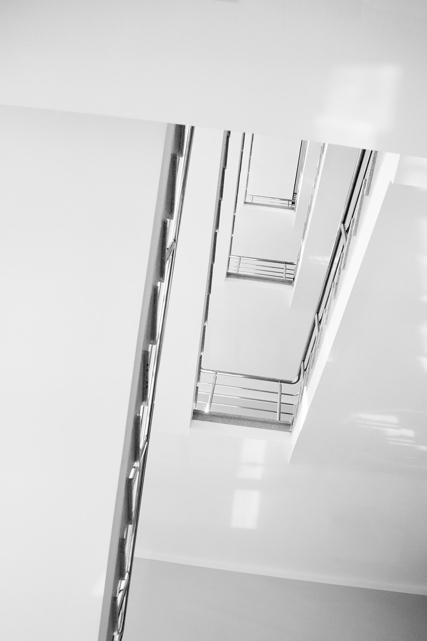 stairs, ladder, minimalism